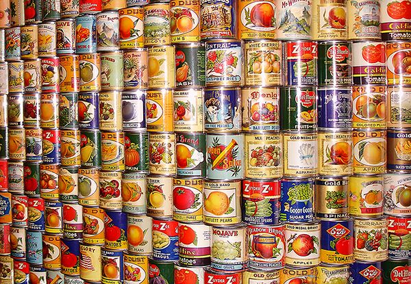 Can You Store Food In Open Tin Cans
